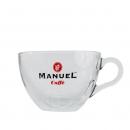 Manuel Caffe Cappuccino kop en schotel - glas