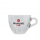Manuel Caffe Espresso kop en schotel - glas