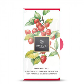 Amedei Dark Chocolate and Red Fruits Toscano Red