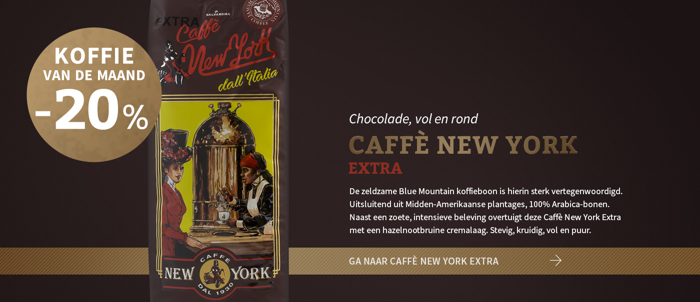New York Extra (met Bluemountain), chocolade, vol en rond