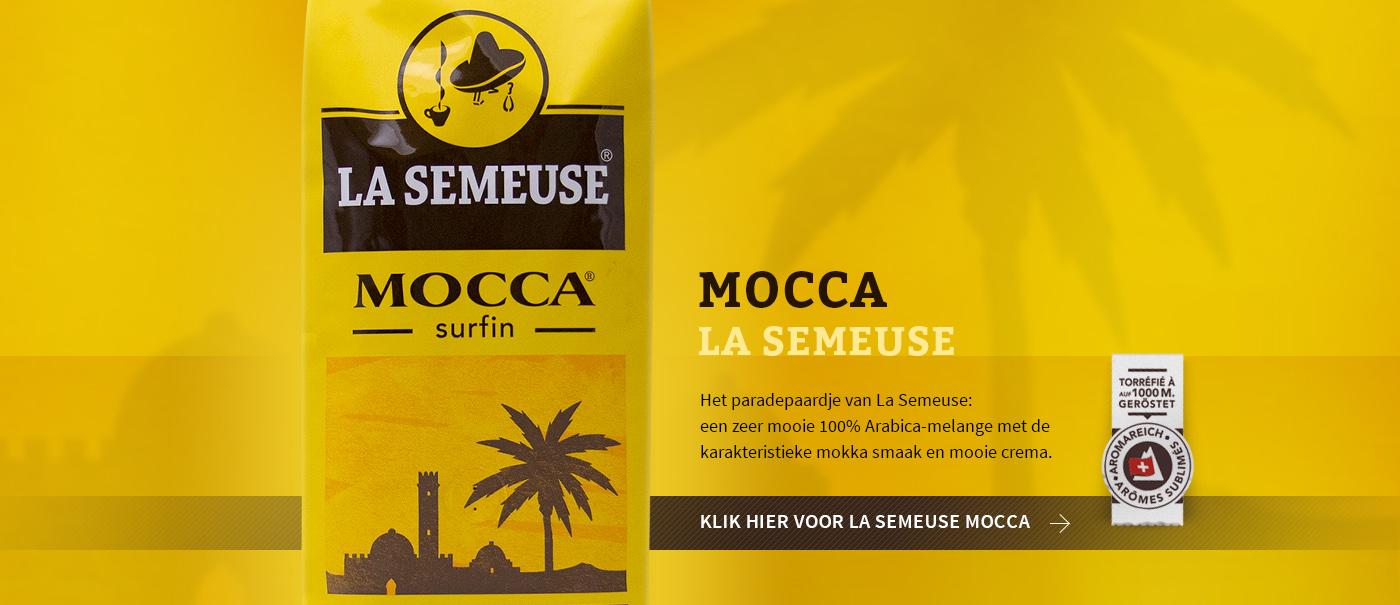 La Semeuse Mocca, fluweel zacht, erg fijne mokka smaak en mooie crema