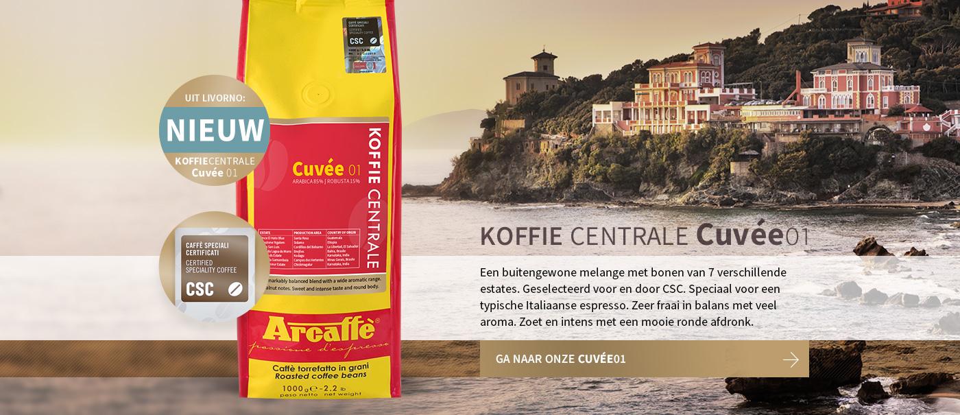 Eigen melange van Koffiecentrale! De Cuvée01. Bestel hier en proef eens.