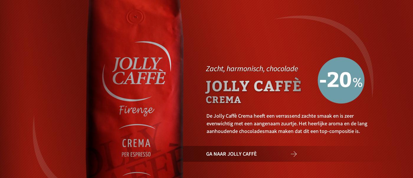 Jolly Caffe, Crema en/of ESE servings nu tijdelijk met 20% korting!